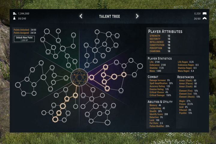 Fractured Talent Tree UI
